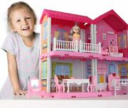 Dollhouse Dreamhouse Building Toys Figure W/ Furniture Accessoriespets And Dolls