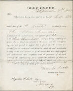 Howell Cobb - Document Signed 09/07/1857 Co-signed By Augustus Schell