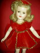 Madame Alexander 18 Sonja Henie Doll Rare Tagged Red Olympic Gold Medal Outfit