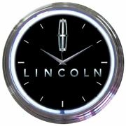 Neon Clock - Ford Lincoln In White Neon Garage Man Cave Or Shop Free Usa Ship