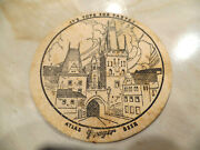 Rare Atlas Prager Beer 4 1/4and039and039 Beer Coaster Atlas Brg Chicago Illinois Ill Il