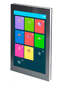 Informationkiosk Wand Panel 50and039and039 Monitor Ultrakompakter Touchscreen Info Wall-50