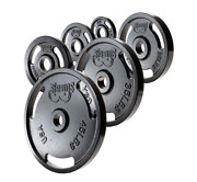 New  2 Olympic Machined Cast Iron Weight Plates All Sizes 45 35 25 10 5 2.5