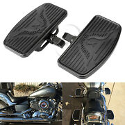 Us Motorcycle Front Footboards Floorboards For Harley Honda Shadow Ace Vt400/750