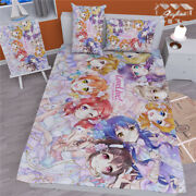 Anime Lovelive Quilt Cover Blanket Bed Sheet Bedding Gift Cosplay 59x78