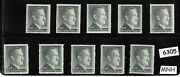 6305 Mnh 1rm Adolph Hitler Third Reich Stamp Lot / 1942-1944 / Sc524 And Sc524a