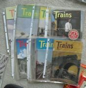 Lot Of 11 Different Vintage 1947 Trains Magazines
