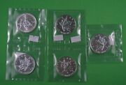 Five - 1 Oz - 1989 .9999 Pure Silver Maple Leaf Coins - Sealed