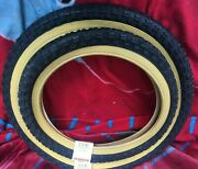 Raleigh Chopper Mk1-2 -3 A Pair Of Amber Wall Tyres Rear 20 2 125 Front 16.2.125