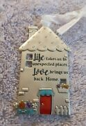 Ganz Pewter Christmas Ornament House Life Takes Us To Unexpected Places.love...