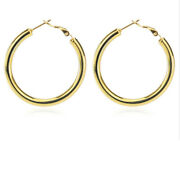 18k Yellow Gold Filled Classic Nickle-free Tube Hoop Earrings Many Sizes T792g