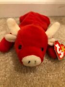 Beanie Babies Snort Ty Extremely Rare Several Errors See Pictures Mint Condition