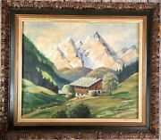 Vintage 1946 Oil Painting Post Wwii Germany Signed Leib 27 X 31 Estate Fresh