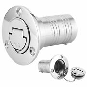 Marine Fuel Deck Fill Filler W/ Keyless Lid Stainless Steel Hardware For Boat