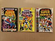 Marvel Super-heroes 14,15,21 Lot Of 3 Silver Age Great Reader Copies