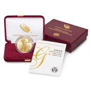2020 W American Gold Eagle Proof 1 Oz 50 In Ogp