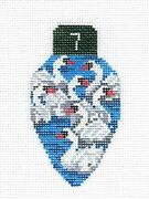 7 Swans Swimming Lightbulb Handpainted Needlepoint Canvas Edie And Ginger From Cbk