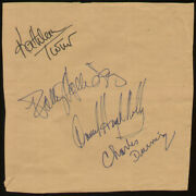 Cat On A Hot Tin Roof Play Cast - Signatures With Co-signers