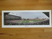 1980and039s Chicago Cubs Batter Up Wrigley Field Panoramic Poster