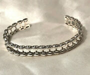 14k White Gold Jacket / Sheath For A Tennis Bracelet First Quality - 21.84 Grams