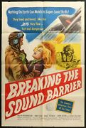 Breaking The Sound Barrier Ann Todd Very Rare 1952 1-sheet Movie Poster 27 X 41