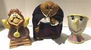 Disney Beauty And The Beast Rubber Figurines
