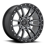 20x10 Fuel D680 Gray Rebel Wheels 33 At Tires 6x135 Ford F150 Expedition Tpms