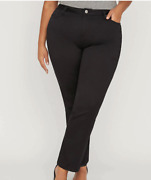 Nwt Catherines Womenandrsquos Sateen Stretch Straight Leg Plus Size Pant Msrp 59