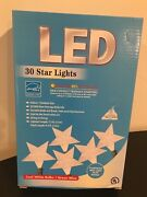Big White Star Shaped Led String Lights - Electric,8.5 Ft Indoor/out New