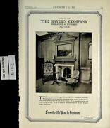 1921 Hayden Company Furniture Seventy Fifth Year Business Vintage Print Ad 5614