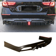 Rear Bumper Diffuser Spoiler With Lights Unfinished For Honda Accord 2018-2020