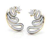 Christmas 2.15ct Natural Round Diamond 14k Solid Yellow Gold Stud Earring
