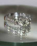Christmas 1.44ct Natural Round Diamond 14k Solid White Gold Ring Size 7