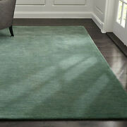 Area Rugs 9and039 X 12and039 Baxter Jade Green Hand Tufted Crate And Barrel Woolen Carpet