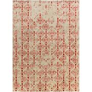 Surya Ban-3316 Banshee Area Rug 8and039 X 11and039 Bright Red/beige