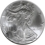 2002 Silver American Eagle 1 Ngc Ms69 Brown Label - Stock