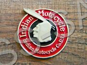 Early Indian Motorcycle Vest Pin Hat Badge Chief Scout Bobber Roadmaster Four 1