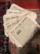 New England Farmer Newspapers 1853 To 1864 Lot 49 Issues
