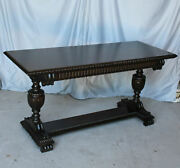 Antique Mahogany Fancy Sofa Table Or Hall Table 24andprime X 60andprime