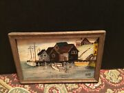 Miniature Finest Antique Oil Paintings With Wood Frame Fashion Doll Display
