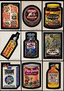 1974 Topps Wacky Packs Series 6 Complete Set W/puzzle Nm 33/33 Packages Truant