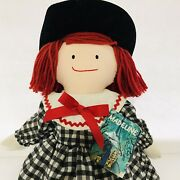 """Rare Madeline Doll - Plush 18"""" With Tags 1990 Eden Style 98336"""