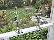 Monumental Chicago Silver Co Art Deco Solid Sterling Silver Candelabraexcellent