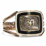 Antique Trauerring For J.simmonds Made Of Gold And Hair Dated 1816 Biedermeier
