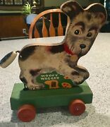Vintage Toys - Fisher Price Woofy Wagger 1947. Andnbspwooden Pull Toy Puppy Dog