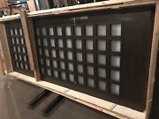 Wood Grain Slab And Frame Single Door With 72 Windows 48andrdquow X 120andrdquo Brushed Nickel