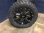 20x10 -19 Ion 141 Gloss Black Wheels 33 Mt Tires Package 6x135 Ford F150 Tpms