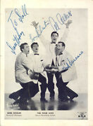 The Four Aces - Inscribed Photograph Signed With Co-signers
