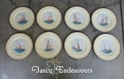 Eight 1930s Lenox Yacht Defenders Americaand039s Cup Tall Ships Special Plates