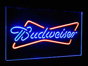 Budweiser Neon Look Led Sign Light Hanging Acrylic Engraved Dual Color